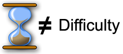 Time does not equal difficulty