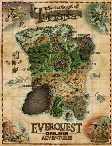 EverQuest Online Adventures Map