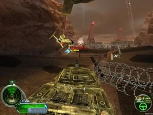 A tank and an orca head into battle against a NOD base.