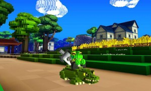 Cube World Crocodile Mount