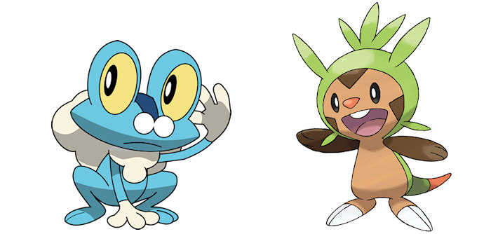 Froakie and Chespin