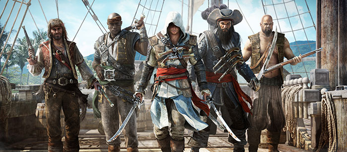 AC4 Edward Kenway and Crew