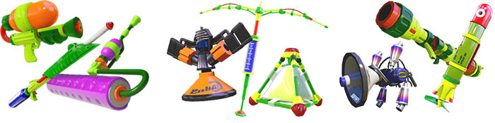 Splatoon Weapons