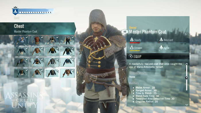 AC Unity Character Customization