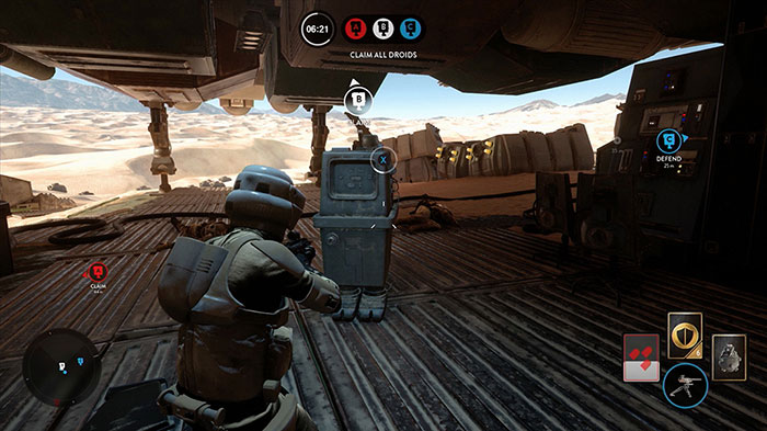 Battlefront droid run mode