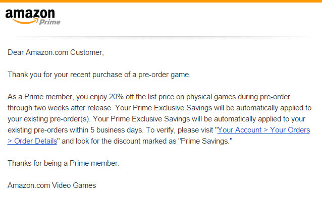 amazon prime pre-order savings