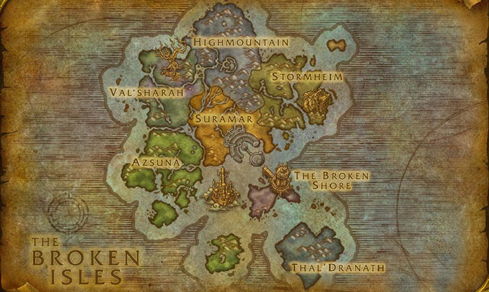 The Broken Isles Zone Scaling