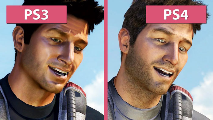 Uncharted PS3 vs. PS4