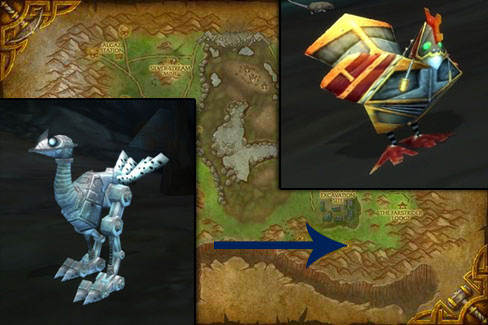 mechano-strider and mechanical chicken pets in WoW
