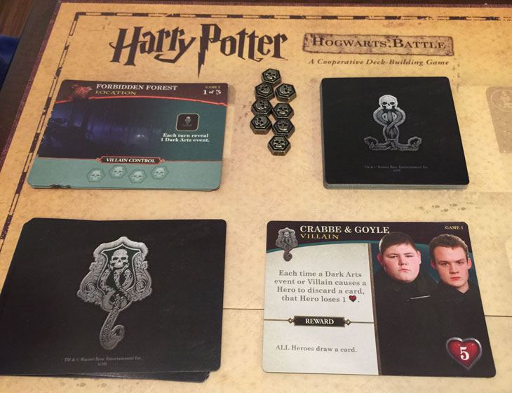 Hogwarts Battle Villain and Location Cards