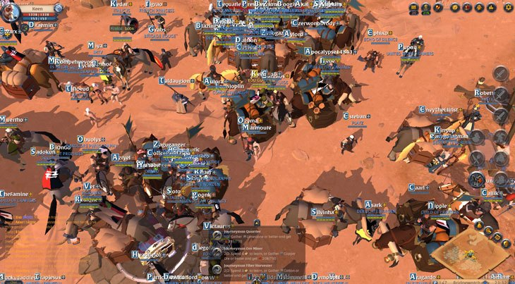 Tons of people playing Albion Online