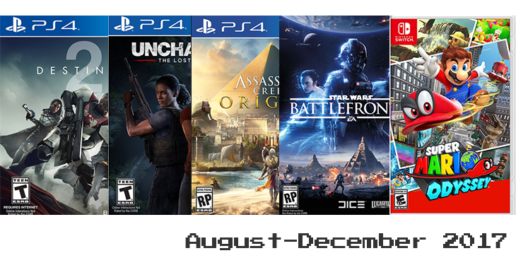 Games coming out the rest of this year