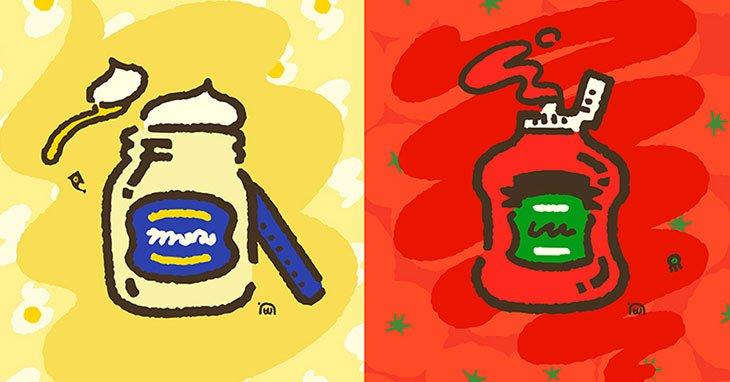 Splatoon 2 Splatfest Mayo vs. Ketchup results