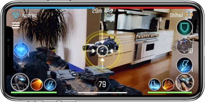 iPhone X Augmented Reality Gaming