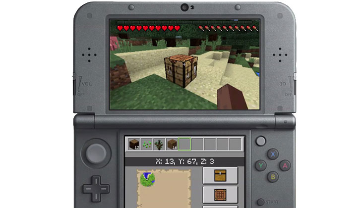 Minecraft on a 3DS