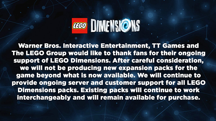 LEGO Dimensions Dies – Toys-to-Life Dead Too?