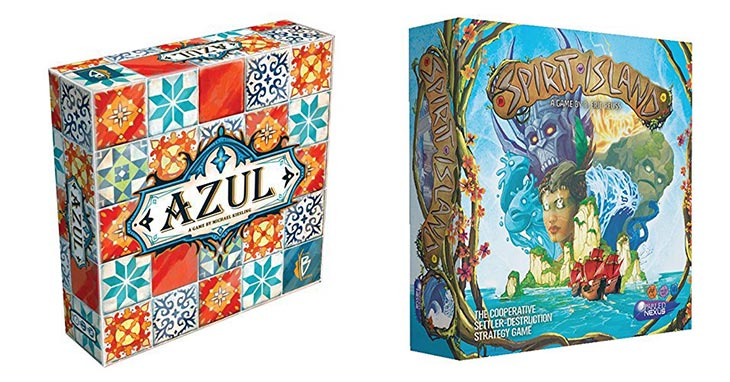 Board Games: Azul & Spirit Island