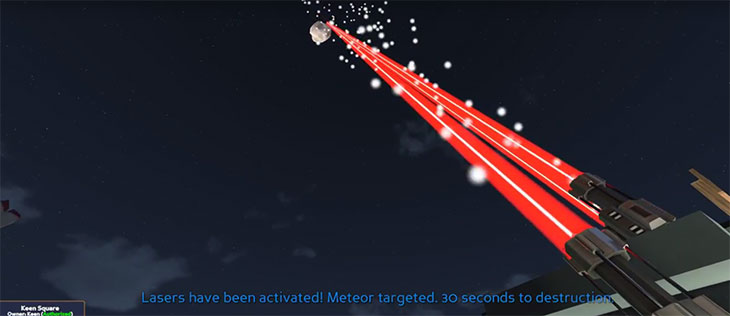 ECO Lasers Firing at Meteor